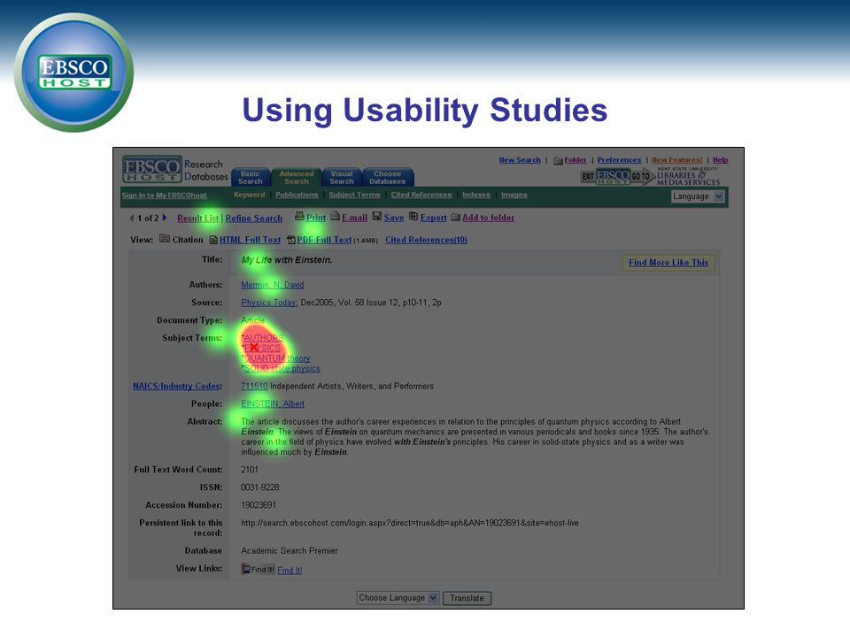 Using Usability Studies