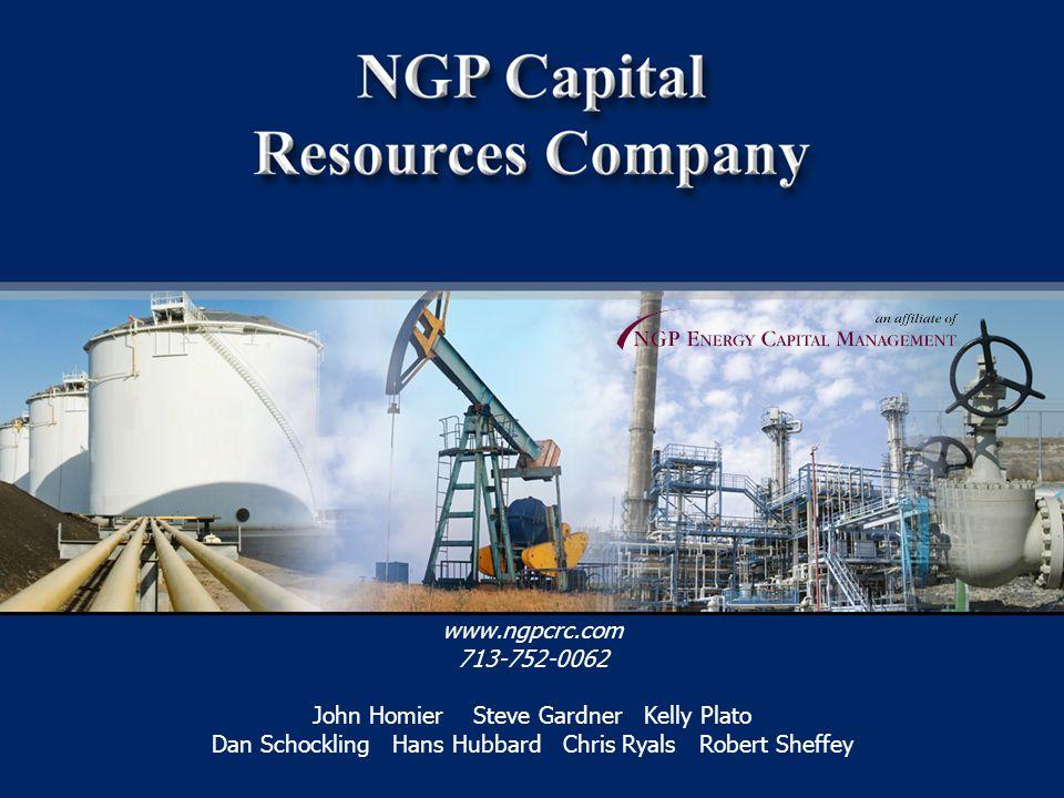 30 www.ngpcrc.com 713-752-0062 John Homier Steve Gardner Kelly Plato Dan Schockling Hans Hubbard Chris Ryals Robert Sheffey
