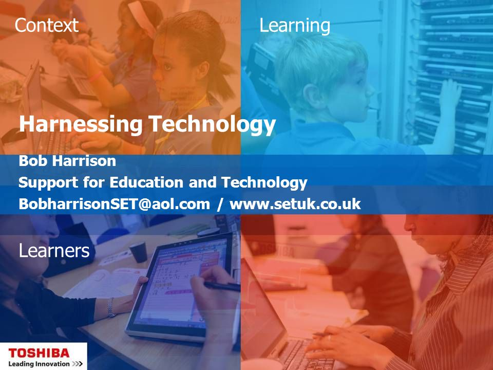 Context – DFES ICT Test Bed Project ICT Test Bed work focused on using ICT to: Raise standards and performance, especially in the areas of school and college improvement, student attainment and raising the quality of teaching and learning Enable more effective leadership and management in schools and colleges Help teachers to concentrate their time on their core task of teaching Enable more effective collaboration between schools and with their local colleges Improve the links between schools, homes and the community