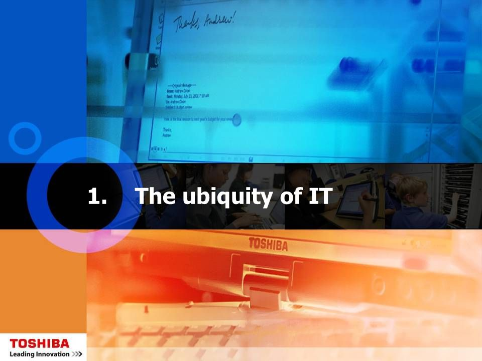 1.The ubiquity of IT
