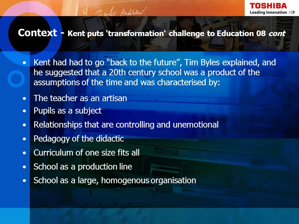 20 Give pedagogy back to the teachers.Embrace technology as part of the solution.