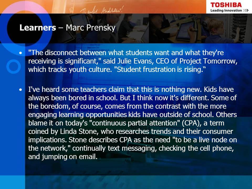 Learners – Marc Prensky