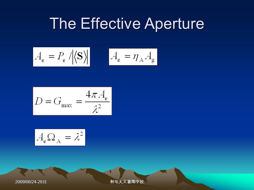 2009/08/24-28 The Effective Aperture