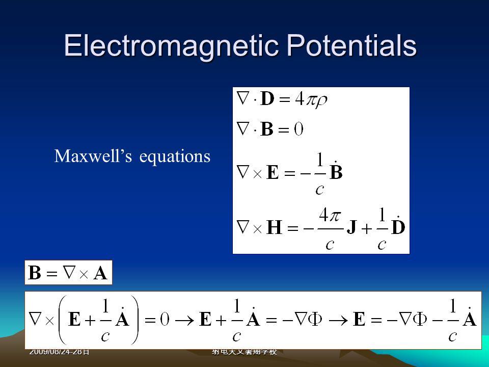 2009/08/24-28 Descriptive Antenna Parameters --The Power Pattern The power pattern Normalized power pattern Directivity The Hertz dipole