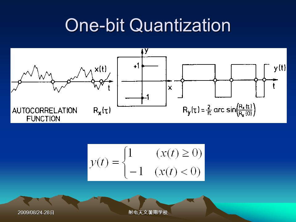 2009/08/24-28 One-bit Quantization