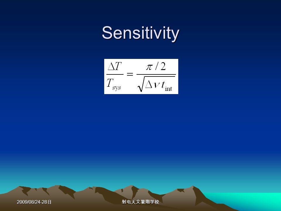 2009/08/24-28 Sensitivity