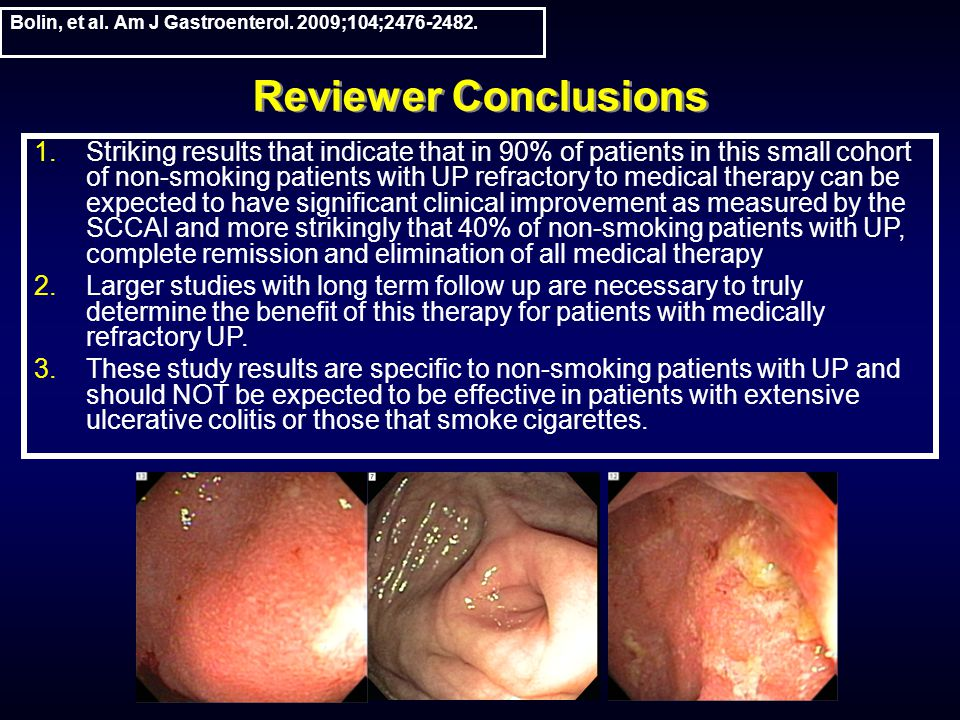 Reviewer Conclusions Bolin, et al. Am J Gastroenterol.