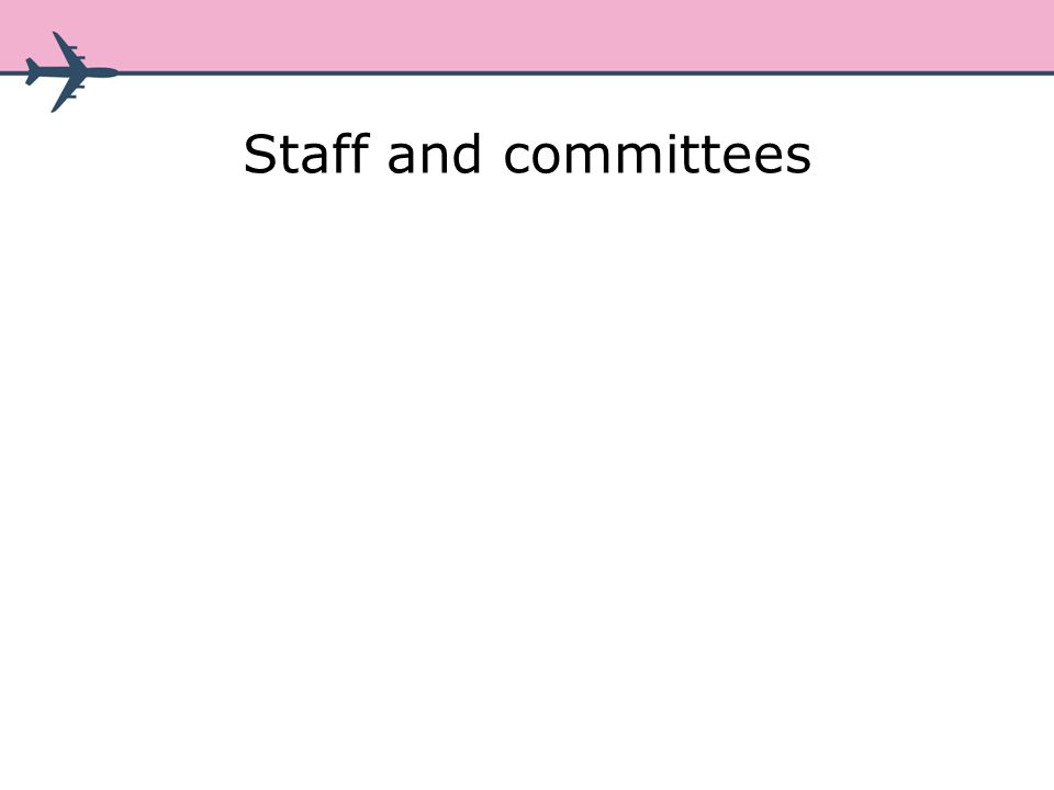 Staff and committees
