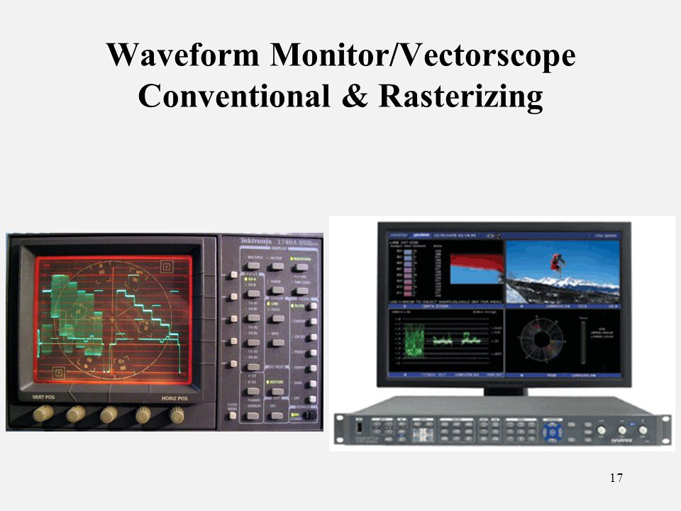 17 Waveform Monitor/Vectorscope Conventional & Rasterizing