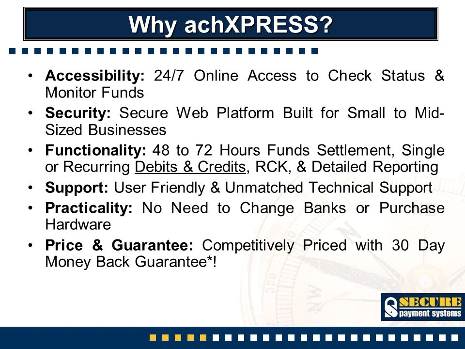 Why achXPRESS.
