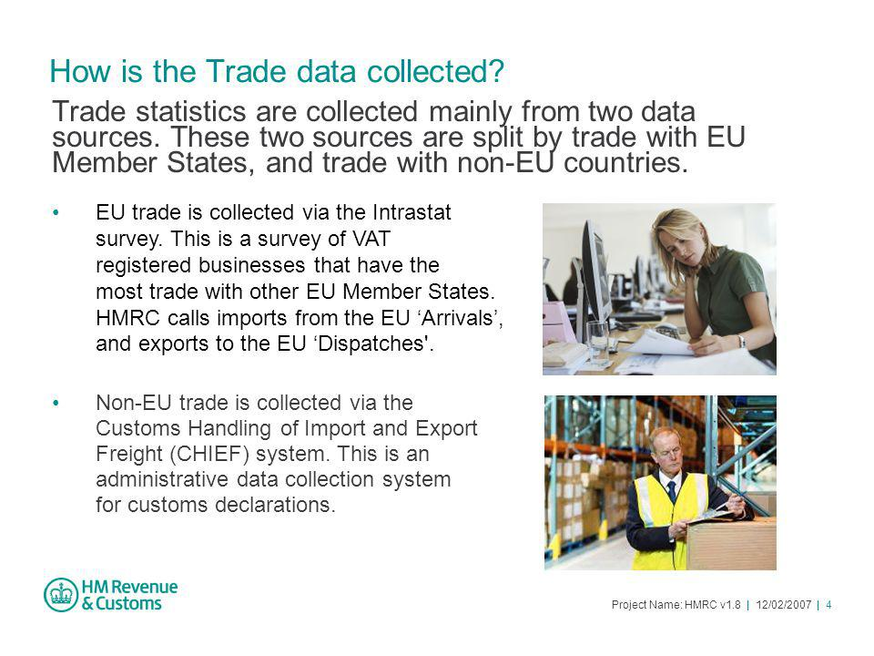 Project Name: HMRC v1.8 | 12/02/2007 | 4 How is the Trade data collected.