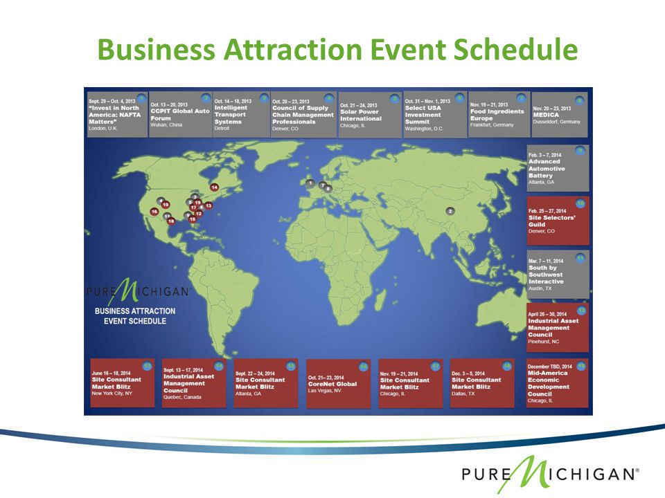 Business Attraction Event Schedule