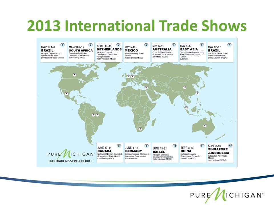 2013 International Trade Shows