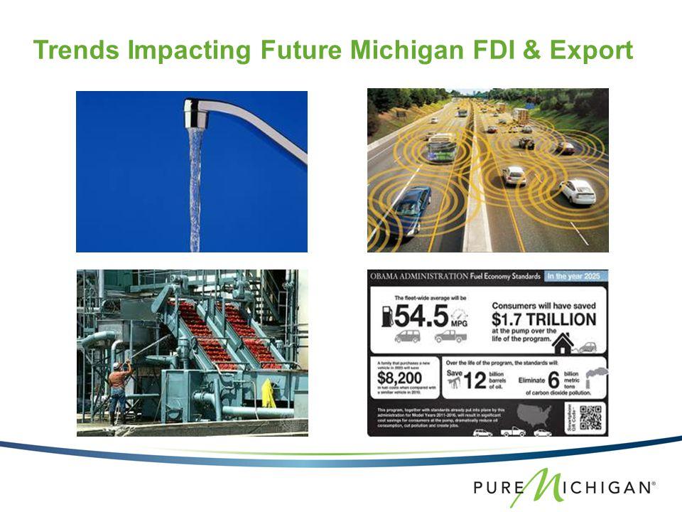 Trends Impacting Future Michigan FDI & Export