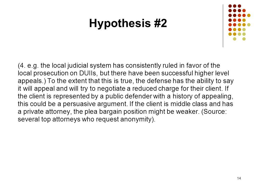 14 Hypothesis #2 (4. e.g.