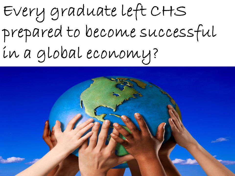 Every graduate left CHS prepared to become successful in a global economy?