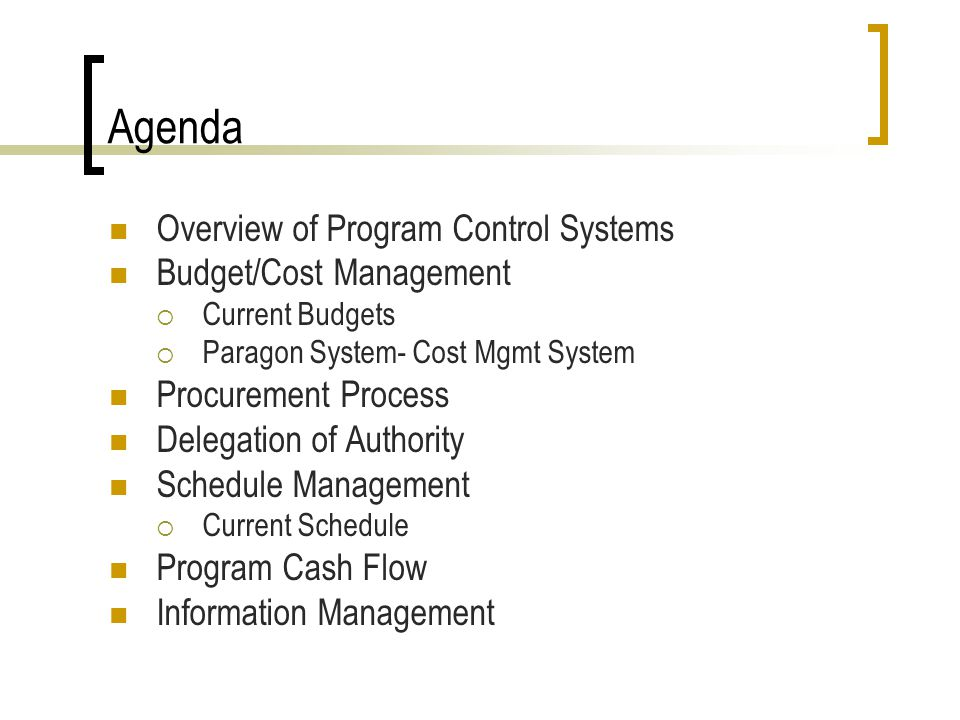 Program Cash Flow Combine Schedule and Budgets County Investment Earning Impact of Delays