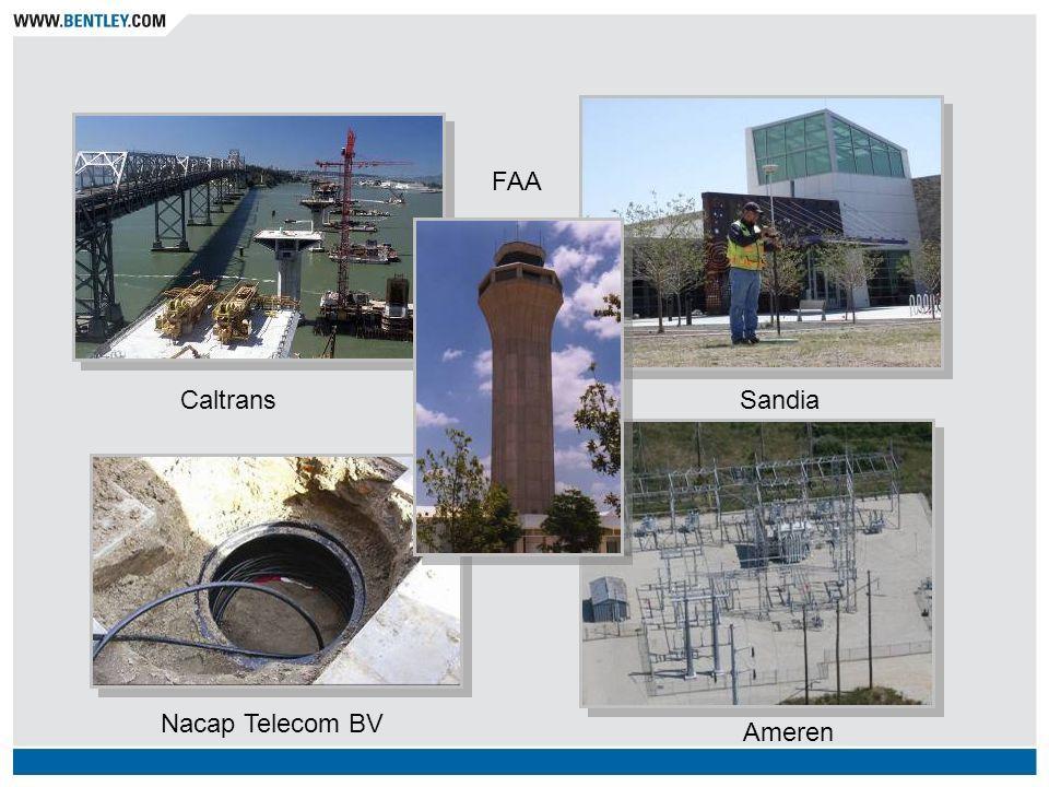 Infrastructure! Caltrans FAA Ameren Nacap Telecom BV Sandia