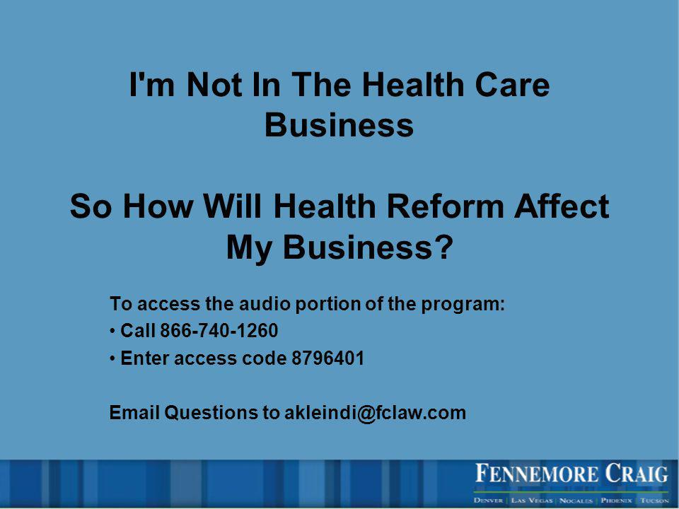 Effective in 2012 1099 reporting for all payments made to people or corporations totaling more than $600 in a tax year –Unsuccessful repeal already tried