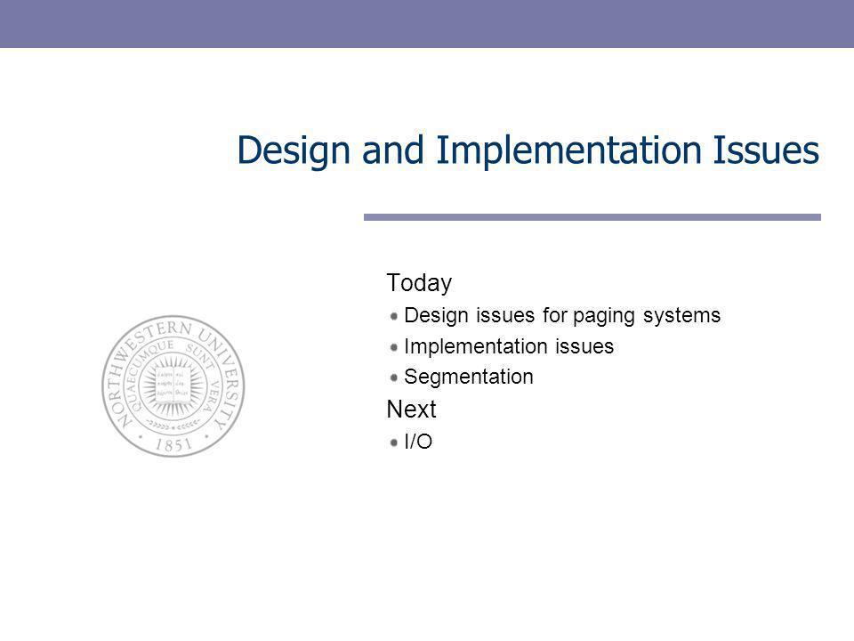 12 Design issues – global vs.