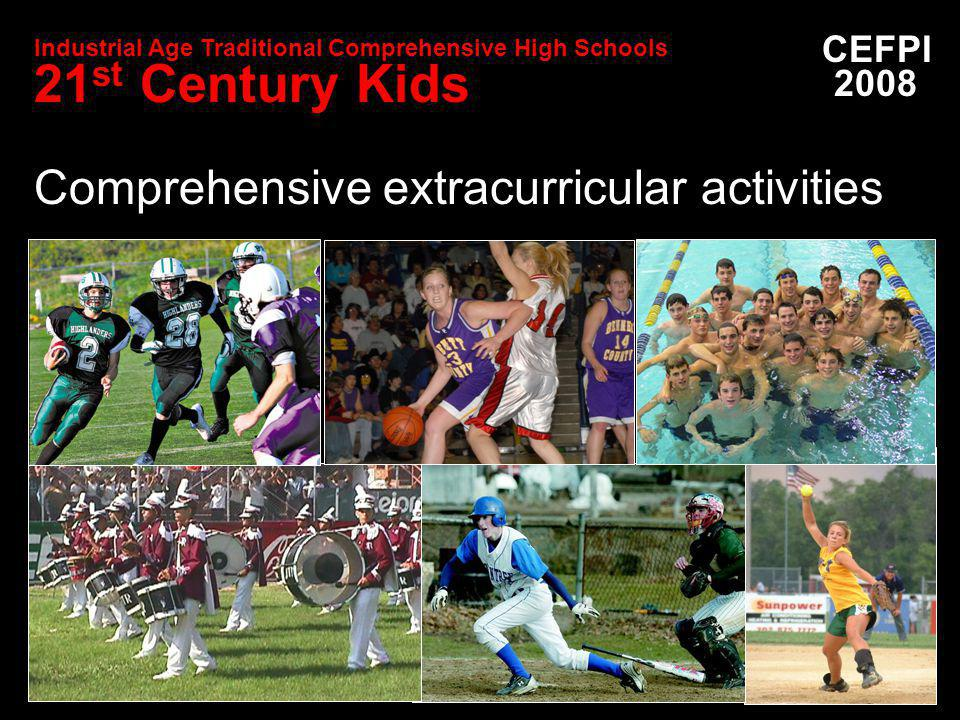 Comprehensive extracurricular activities CEFPI 2008 Industrial Age Traditional Comprehensive High Schools 21 st Century Kids