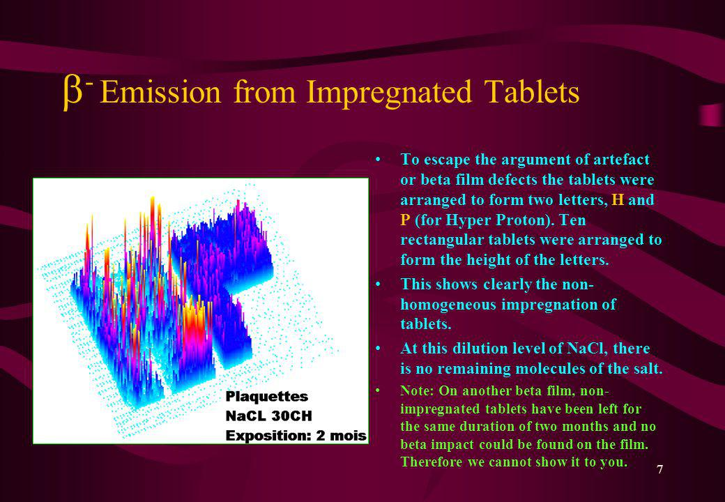 6 - Emission Induced by the Body Beta Healer: 3D Presentation