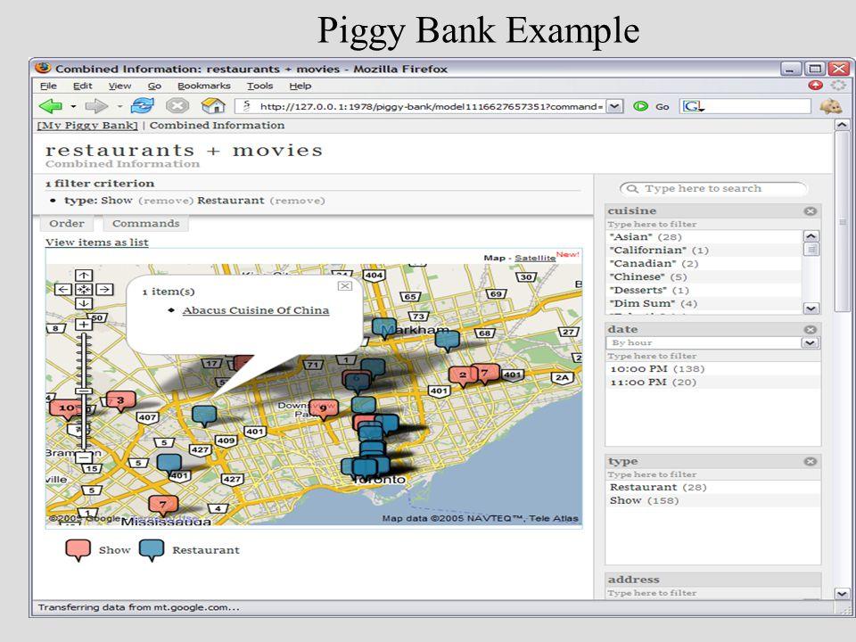 Piggy Bank Example
