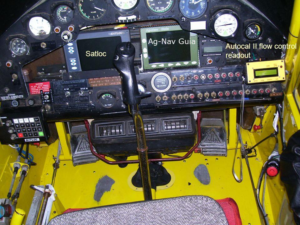 Autocal II flow control readout Satloc Ag-Nav Guia