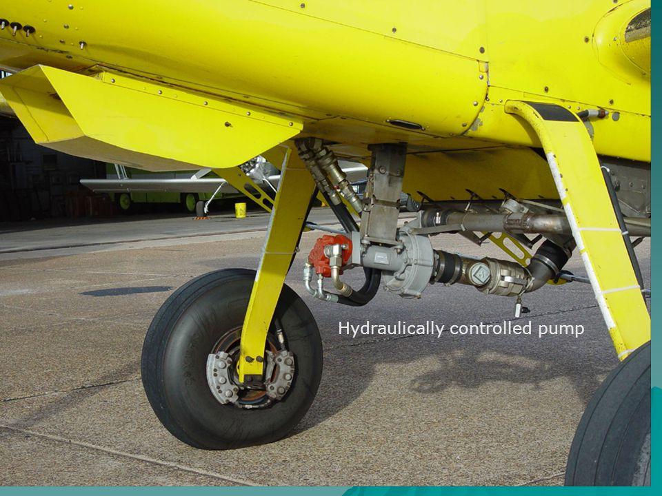 Hydraulically controlled pump
