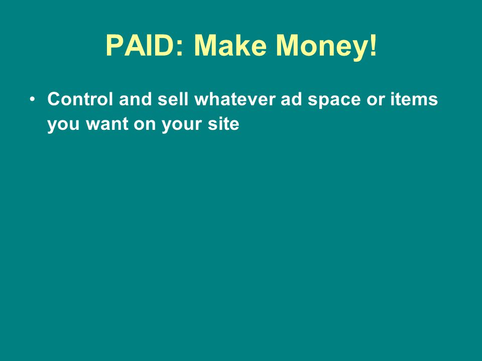 FREE: Sales Restrictions Cannot sell or control the ad space on your site IF you receive MORE THAN 25,000 views per month and apply for the privilege If approved you will split the revenue 50/50 with WP