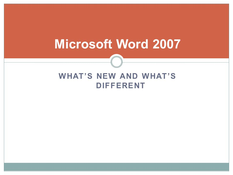 Microsoft Word 2007 Auto citations according to APA, Chicago, and MLA Building blocks Cover page gallery Blog posting Style sheets Word count listed in status bar Contextual spell checker Translation tool tip Document comparison engine Fullscreen layout Document inspector