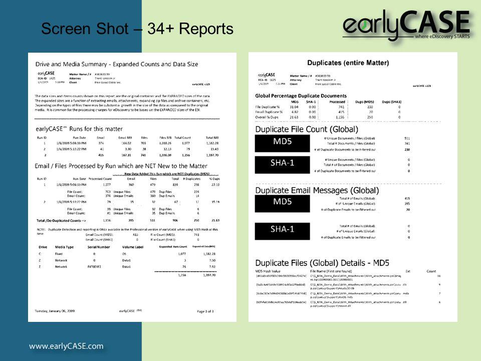 Screen Shot – 34+ Reports