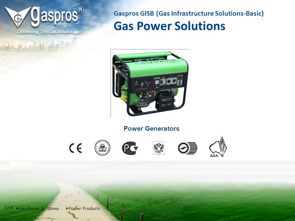 Power Generators Gas Power Solutions GISB Power Products Gaspros GISB (Gas Infrastructure Solutions-Basic) Gas Power Solutions