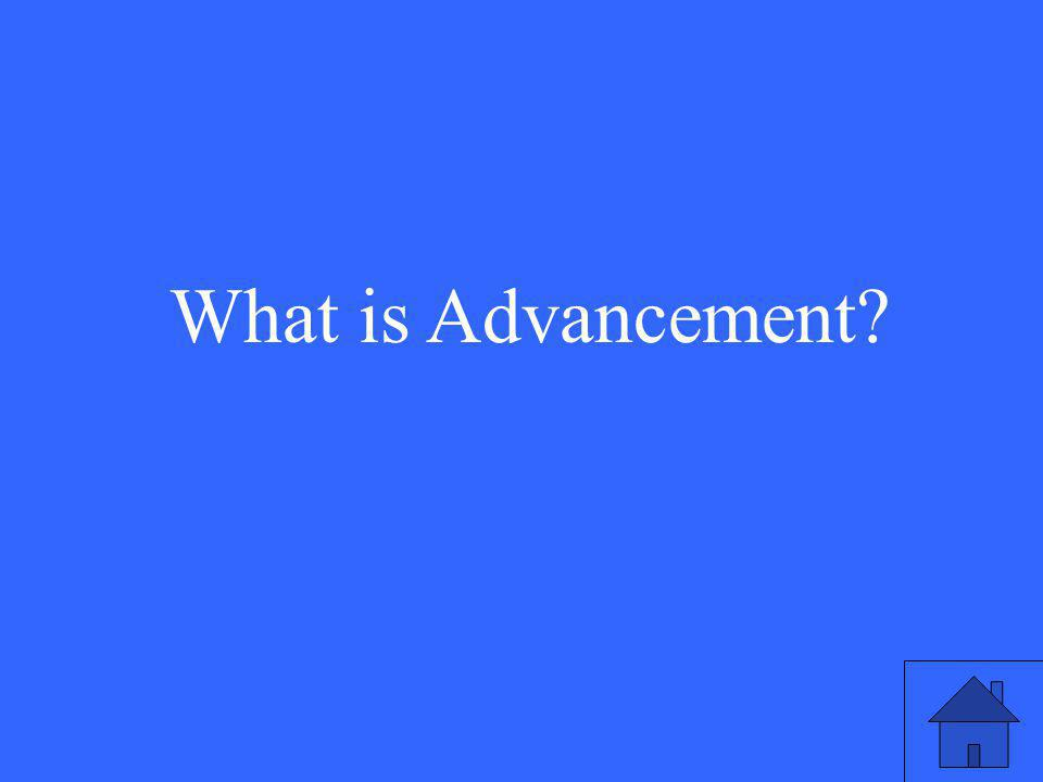 What is Advancement