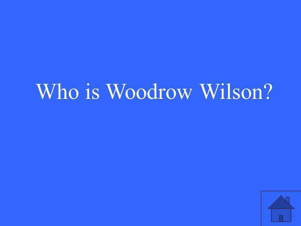 Who is Woodrow Wilson