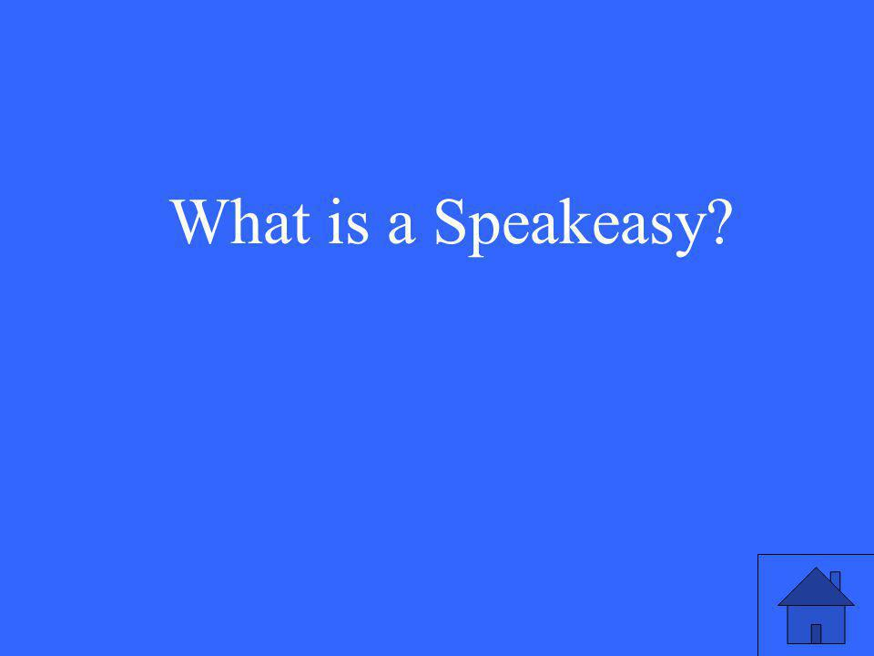 What is a Speakeasy
