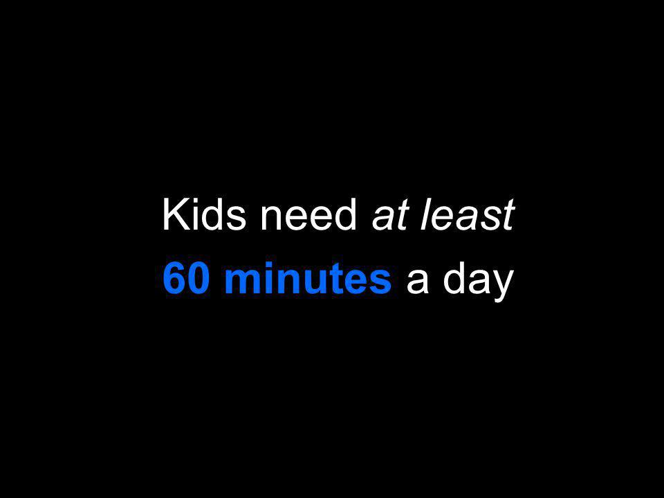 Kids need at least 60 minutes a day
