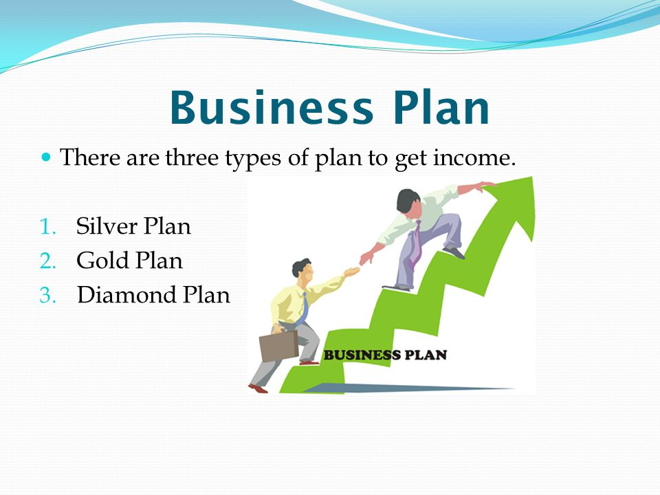 Business Plan There are three types of plan to get income. 1. Silver Plan 2. Gold Plan 3. Diamond Plan