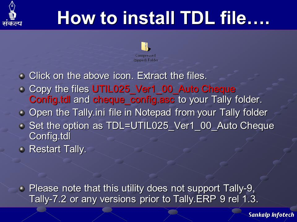 How to install TDL file….Click on the above icon.