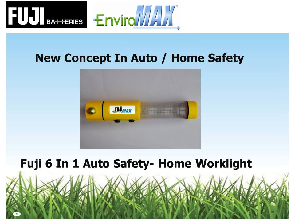 New Concept In Auto / Home Safety Fuji 6 In 1 Auto Safety- Home Worklight