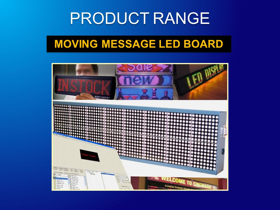 MOVING MESSAGE LED BOARD