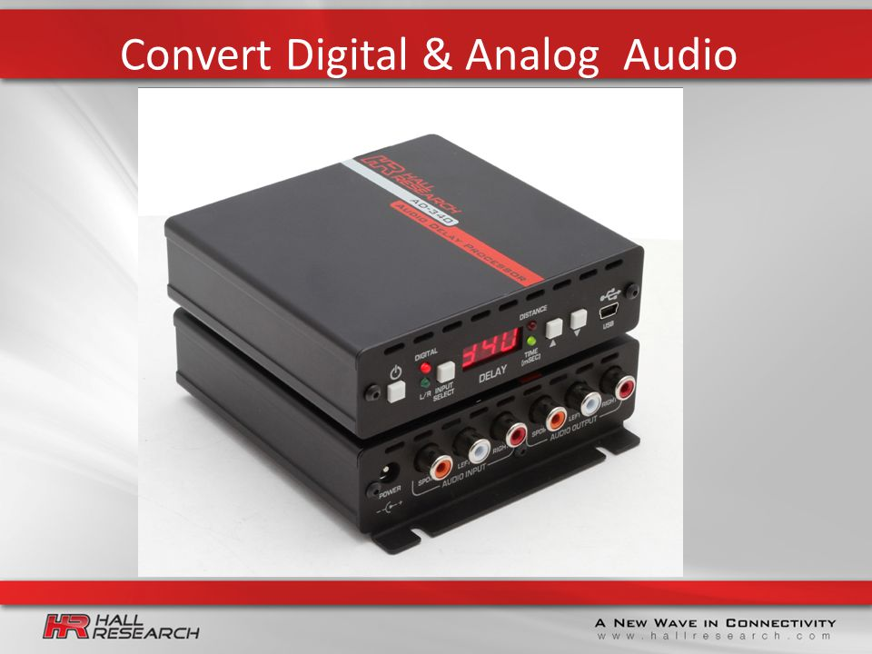 Convert Digital & Analog Audio