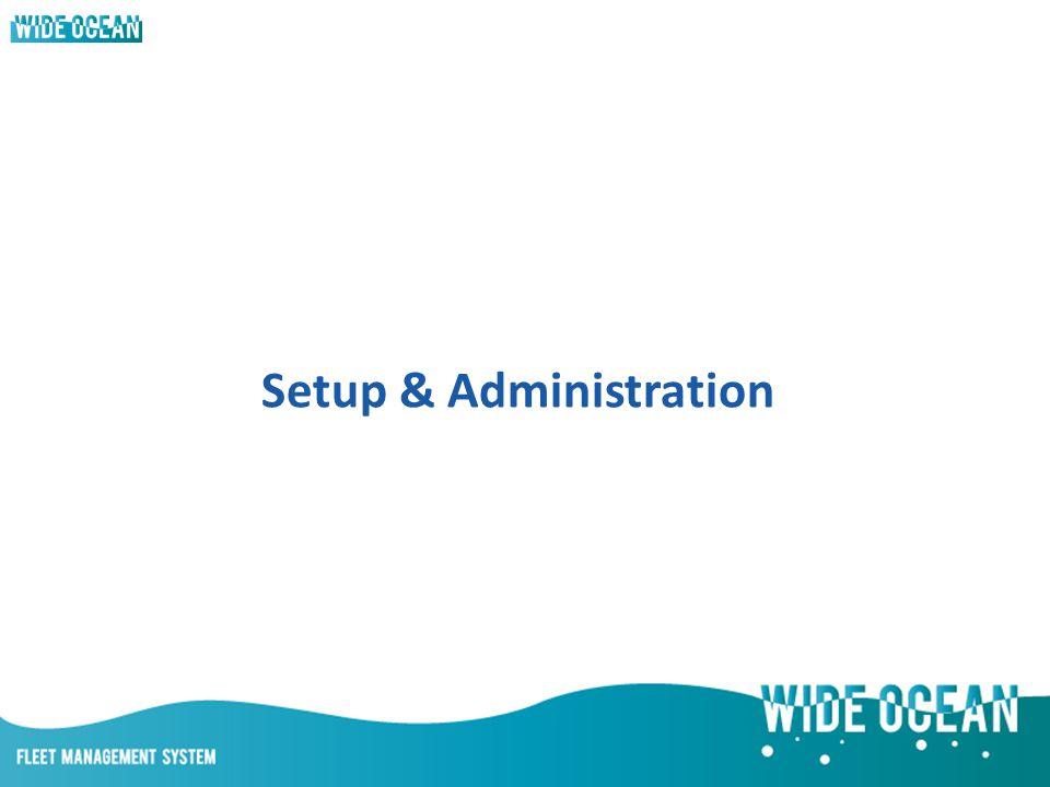 Setup & Administration