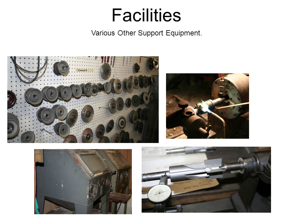 Various Other Support Equipment. Facilities