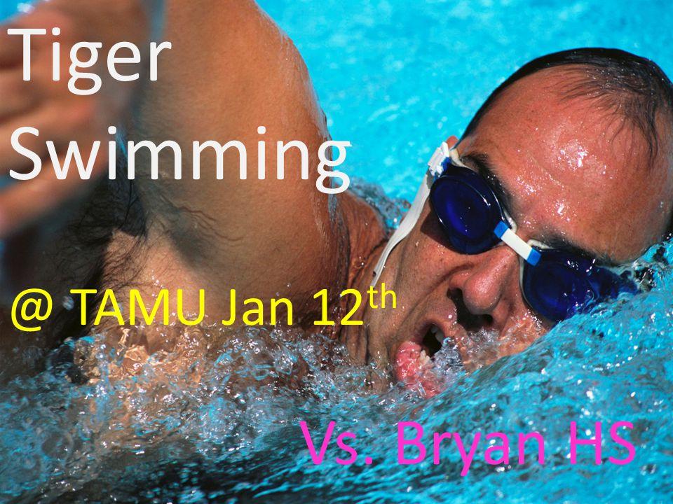 Tiger Wrestling Jan. 11 @ KinKaid, Klein 4:00 pm Jan 14 District Meet @Bryan HS 9:00 am