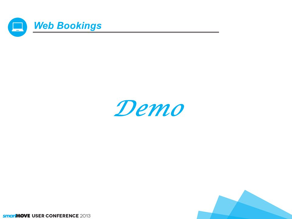 Web Bookings Demo