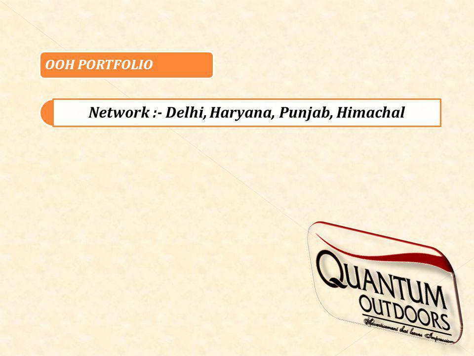 OOH PORTFOLIO Network :- Delhi, Haryana, Punjab, Himachal
