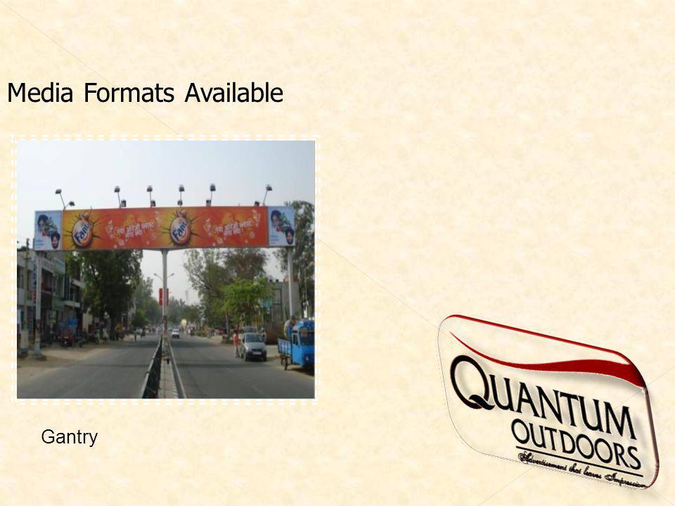 Media Formats Available Gantry