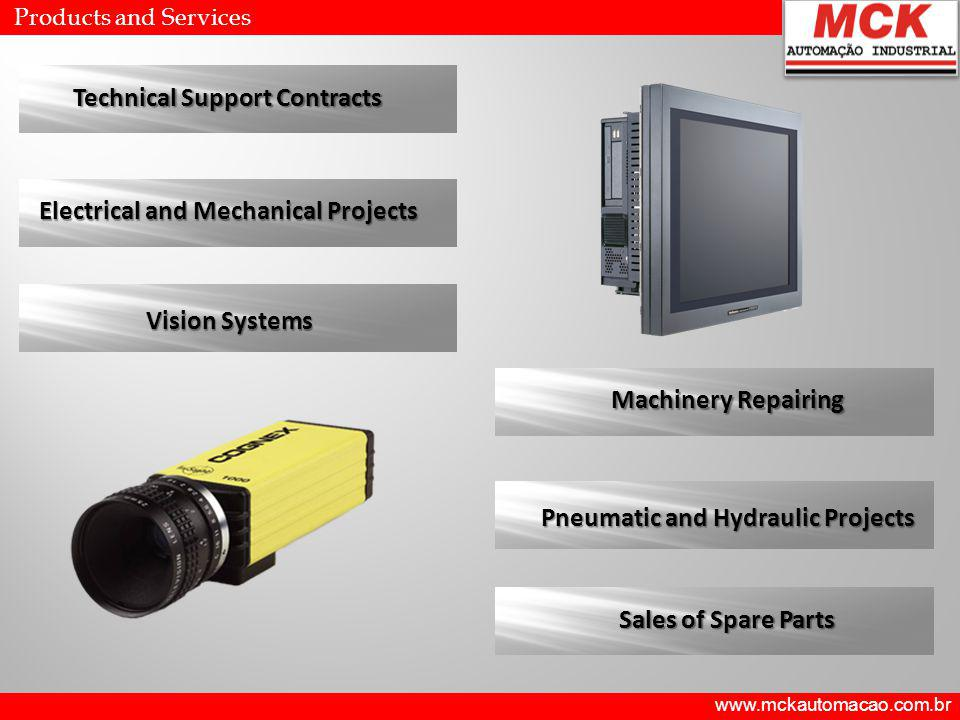 Technical Support Contracts Electrical and Mechanical Projects Vision Systems Machinery Repairing Pneumatic and Hydraulic Projects Sales of Spare Parts Products and Services