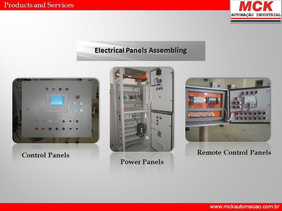 Products and Services Electrical Panels Assembling Power Panels Control Panels Remote Control Panels